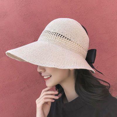大帽檐防晒帽子卷卷遮阳帽太阳帽女空顶帽夏季凉帽时尚百搭可折叠