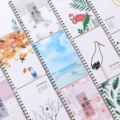 创意小清新文具简约A5线圈本笔记本子韩国创意记事本练习本日记本