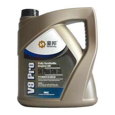 爆款汽车机油全合成SN5W30豪邦机油SN级4L装四季通用发动机润滑油