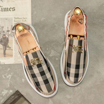 夏季布鞋男士潮流懒人鞋子一脚蹬透气男鞋休闲鞋防臭老北京帆布鞋