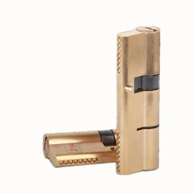 热销进户门全铜锁芯 防盗门锁芯65mm-120mm大门全铜材质锁芯 WJ铜