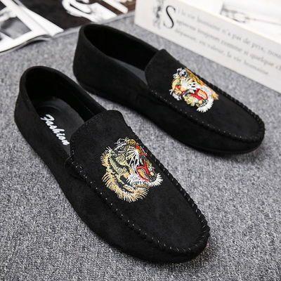 豆豆鞋男韩版潮流学生懒人鞋社会小伙青年皮鞋男休闲百搭男鞋潮鞋