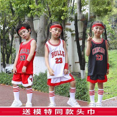 夏季儿童篮球服套装男童女宝宝幼儿园男孩表演服装小学生训练球衣
