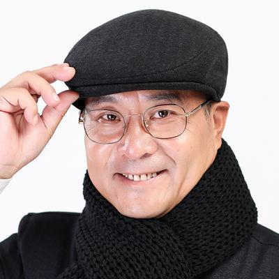 老人帽子男毛呢前进帽冬天爸爸爷爷鸭舌帽春秋四季款中老年老头帽