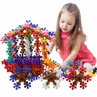 儿童玩具大颗粒雪花片拼插梅花积木益智早教玩具孩子思维开发玩具