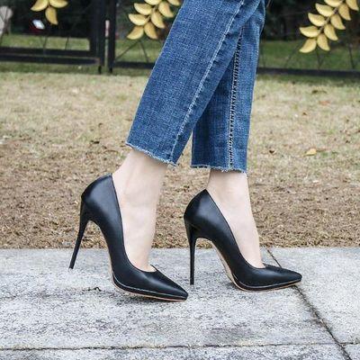 超高跟12欧美春季新款防水台红色单鞋