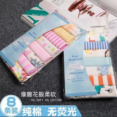 新生儿纯棉纱布口水巾外贸婴儿喂奶巾8条装宝宝手帕小方巾洗脸巾