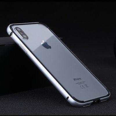 苹果6s手机壳6p红色7p金属硅胶11pro防摔边框xs套X简约散热8p保护