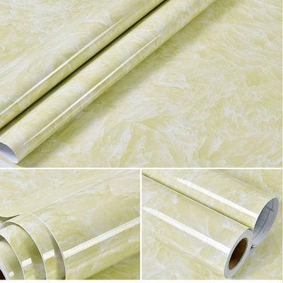 加厚大理石厨房灶台桌面防油贴浴室防水墙纸自粘壁纸家具翻新贴纸