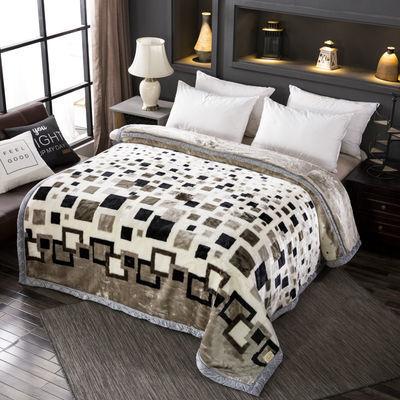 【买一条送一条】拉舍尔毛毯加厚双层保暖单双人盖被毯珊瑚绒毯子