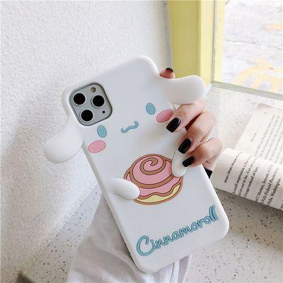 可爱玉桂狗iphone5s/4s手机壳se苹果11/xs/xr/6s/7/8plus硅胶软壳