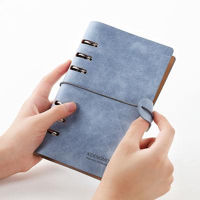 随身便携迷你活页夹小手帐本笔记本子绑带复古文艺账A765日记事本