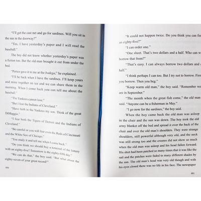 【特价】正版精装 老人与海中英对照双语版 海明威著名著小说英语