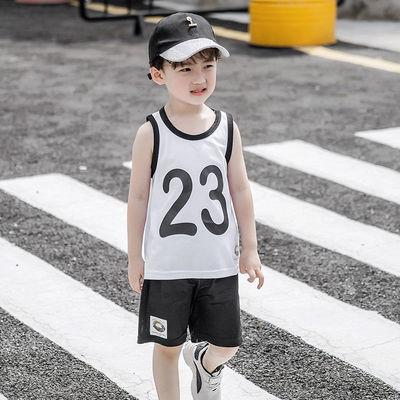 背心套装2020夏装新款儿童纯棉舒适男童时尚潮流T恤短裤运动套装