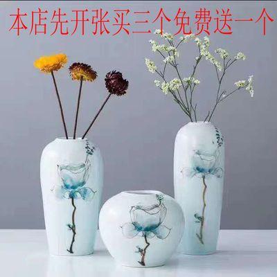 新中式手工花瓶小摆件家居水培干花桌面插花创意陶瓷小花瓶