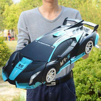 儿童超大充电动感应变形遥控汽车金刚机器人兰博基尼赛车玩具男孩