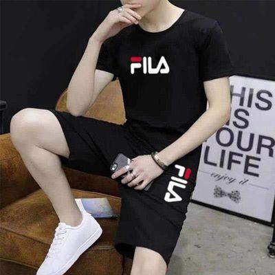 2020新品夏季短裤T恤套装男士韩版潮流休闲运动服学生青少年男装