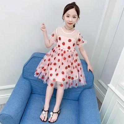 女童连衣裙儿童公主裙洋气网纱连衣裙新款夏装2020夏季小女孩裙子