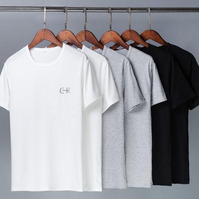 短袖T恤男士夏季韩版圆领宽松男t恤纯色半袖男装新款潮流学生体恤