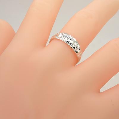 正品999纯银戒指满天星男女情侣对戒一对开口活口爱心学生足银饰
