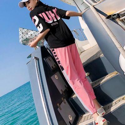 运动休闲套装女2020夏季新款网红宽松学生洋气特色韩版潮牌两件套