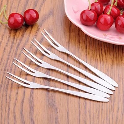 不锈钢水果叉套装创意可爱水果签甜品叉蛋糕叉月饼叉吃水果小叉子