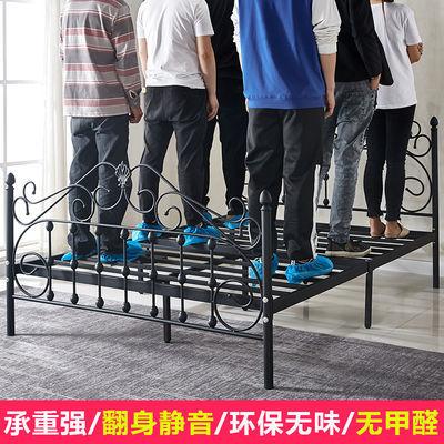 热卖现代简约铁艺床单人床公主欧式铁艺床双人床1.2米1.5米1.8米