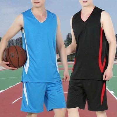 篮球服套装男速干透气大学生球衣比赛队服男士晨跑训练健身运动服