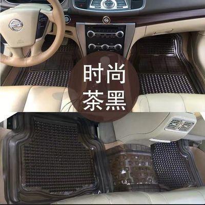加厚汽车透明脚垫 防水防滑防冻 通用型PVC塑料汽车地胶地垫 包邮