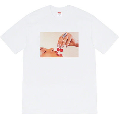 SUPREME夏季新款 20SS CHERRIES TEE 吃樱桃的女人 男女 短袖 T恤