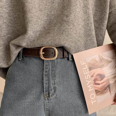 62975/女士皮带简约百搭牛仔裤带女生ins风港味黑色腰带韩国版时尚装饰
