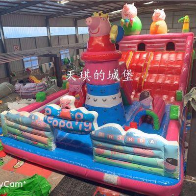 热销大型儿童城堡玩具充气蹦蹦床滑梯儿童乐园充气城堡室外大型淘
