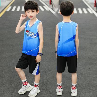 童装男童夏季速干衣儿童无袖背心套装中大童篮球服足球服运动服潮