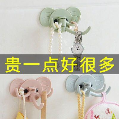 免钉门后挂钩厨房浴室大象壁挂粘钩多用强力粘胶创意可爱无痕挂勾