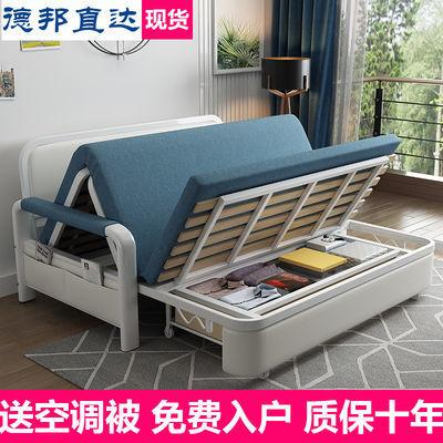 热卖实木沙发床两用双人单多功能客厅小户型出租房经济型可储物折