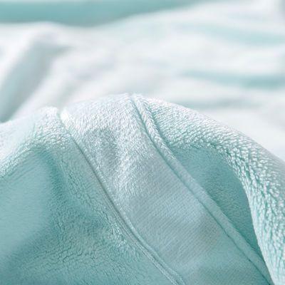 法兰绒纯色毛毯四季盖毯大学生宿舍单双人床单办公室空调午睡毯子