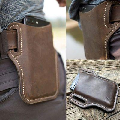 超薄皮带手机套运动腰包男腰间包小腰包迷你干活工地小型轻便真皮