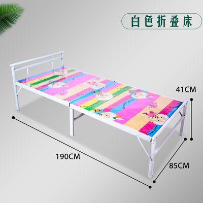 加固折叠床竹条床单人床成人床家用陪护床办公室午睡床行军床铁床
