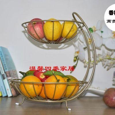 爆款双层水果盘客厅家用北欧多层干果盘现代简约创意水果篮零食点