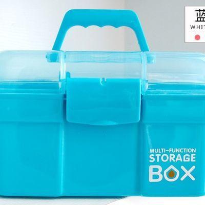 美甲箱塑料手提式多层大号化妆品收纳箱家用药箱美甲工具箱收纳盒