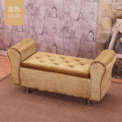 热销欧式换鞋凳服装店双人沙发凳床尾凳收纳储物布艺试鞋凳贵妃凳