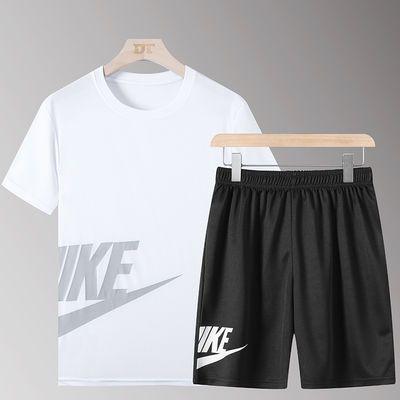运动套装男夏季篮球宽松足球跑步夜跑训练服速干装备大码健身衣服