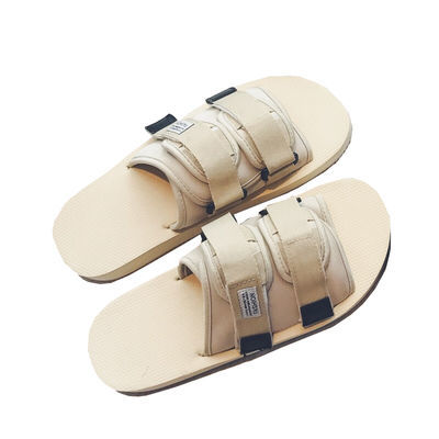 夏季潮牌凉拖鞋陈冠希同款拖鞋男韩版潮流厚底迷彩休闲沙滩鞋个性