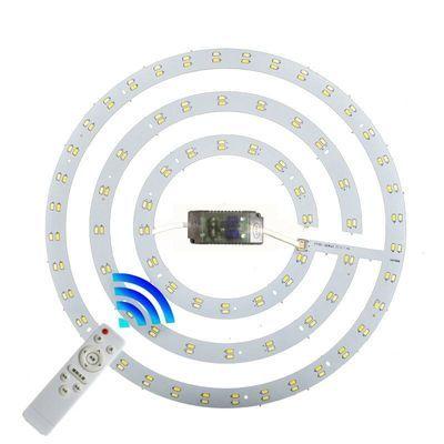 led吸顶灯改造灯板三色变光灯芯遥控无极调光圆形环形管贴片光源