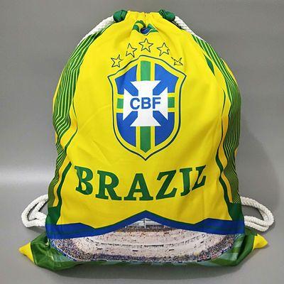 足球背包书包皇马巴萨尤文C罗梅西世界杯中小学生训练抽口袋鞋袋