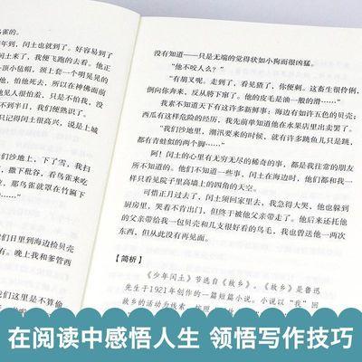 【特价】中学生必读名著全8册少年闰土鲁迅骆驼祥子老舍荷塘月色