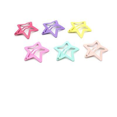 韩国糖果色星星发夹儿童可爱闪粉滴油bb夹卡子女童甜美彩色发卡女