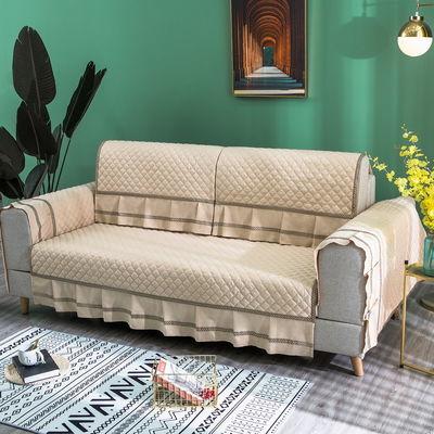 沙发垫盖布防滑四季通用北欧简约坐垫全包万能沙发套罩巾靠背加厚