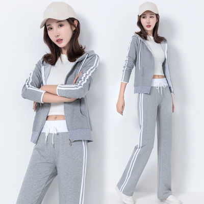 春秋季韩版运动套装女2020新款时尚学生休闲装宽松卫衣宽松两件套