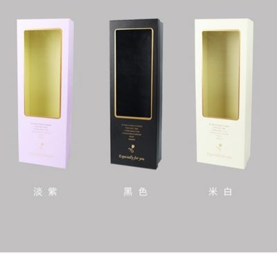 新款金色密语礼盒开窗透明长方形鲜花包装盒一套二个装礼品盒子